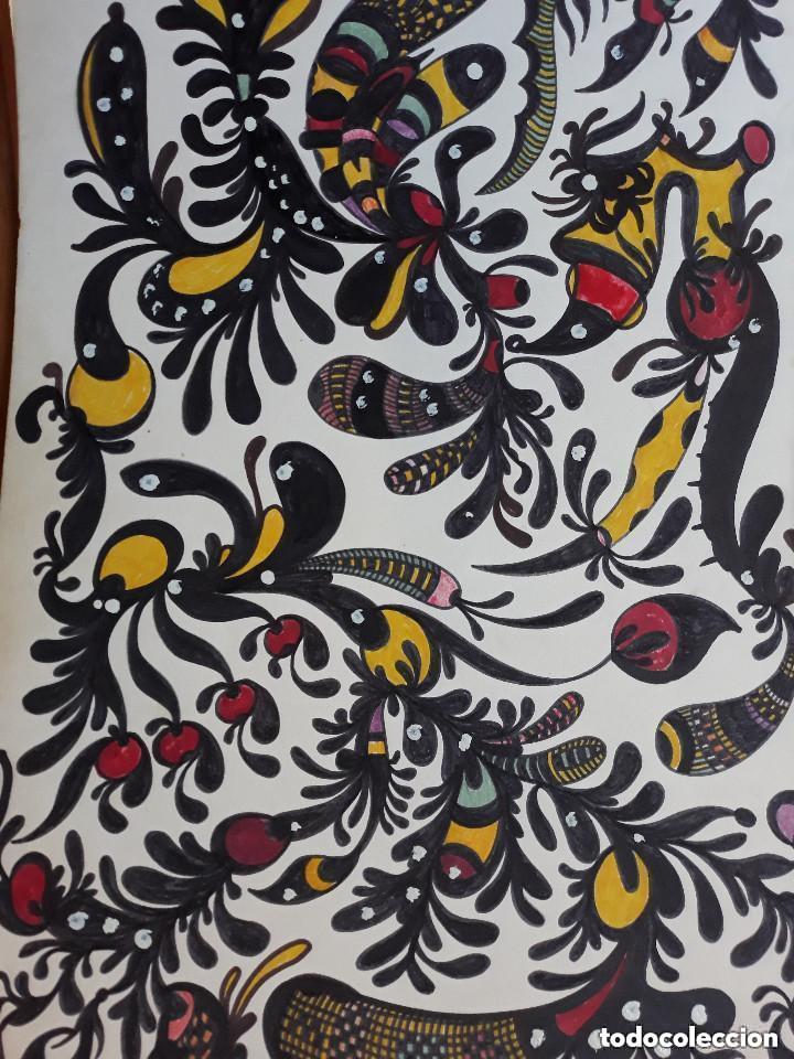 ABSTRACTO CARTULINA ( SIN MARCO ) SANTA) 0017/ (Arte - Pintura Directa del Autor)