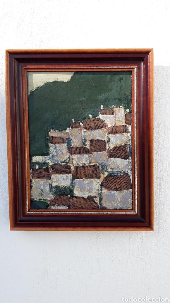 Arte: INTERESANTE Y PECIOSO OLEO - COLLAGE , precio especial - Foto 5 - 140408878