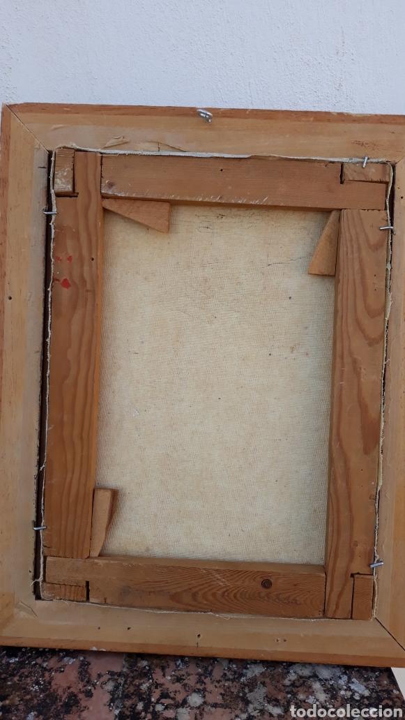 Arte: INTERESANTE Y PECIOSO OLEO - COLLAGE , precio especial - Foto 6 - 140408878