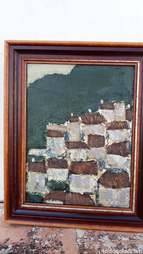 Arte: INTERESANTE Y PECIOSO OLEO - COLLAGE , precio especial - Foto 7 - 140408878