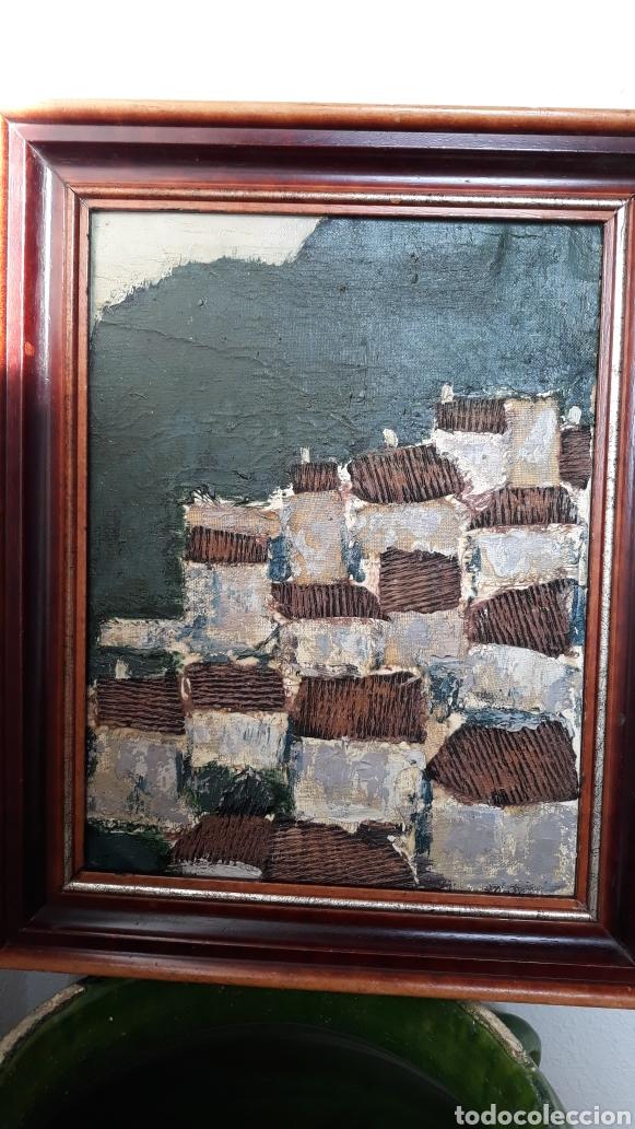 Arte: INTERESANTE Y PECIOSO OLEO - COLLAGE , precio especial - Foto 8 - 140408878