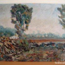 Arte: ÓLEO DE PAISAJE SOBRE TABLA FIRMADO (35 X 27 CM.). Lote 150583966