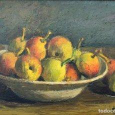 Arte: ENRIC PORTA MESTRE (1898-1993) - BODEGÓN DE PERAS - ÓLEO LIENZO. Lote 150593586