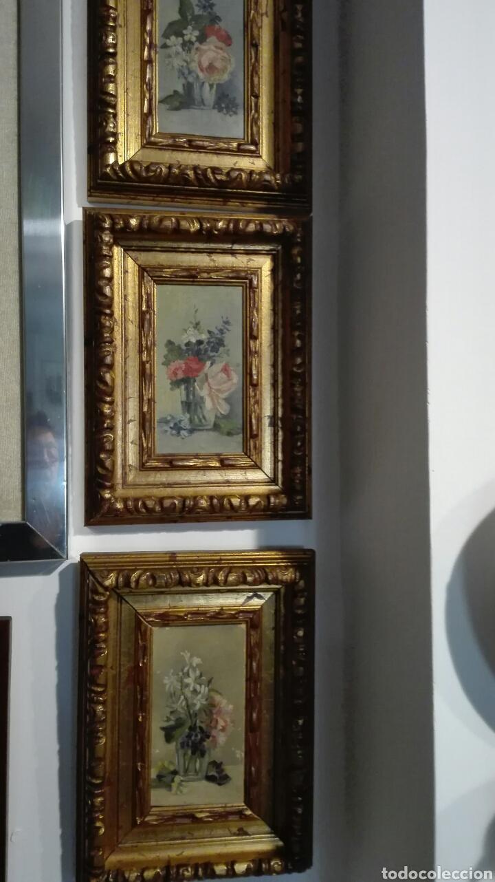 LOTE TRES OLEOS SOBRE TABLA S XIX (Arte - Pintura - Pintura al Óleo Moderna siglo XIX)