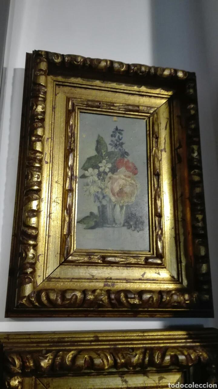 Arte: Lote tres oleos sobre tabla S XIX - Foto 4 - 150604540
