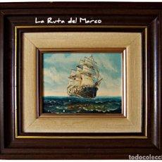 Arte: MARINA 1 - MONA - CUADRO DE ÓLEO ENMARCADO. Lote 150647662