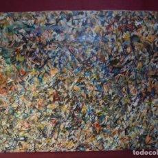 Arte: MAGNIFICO LIENZO REALIZADO A ESPATULA,POR EL PINTOR BONIFACIO CARLOS DE URIARTE,SALIDA 1 EURO. Lote 150649674