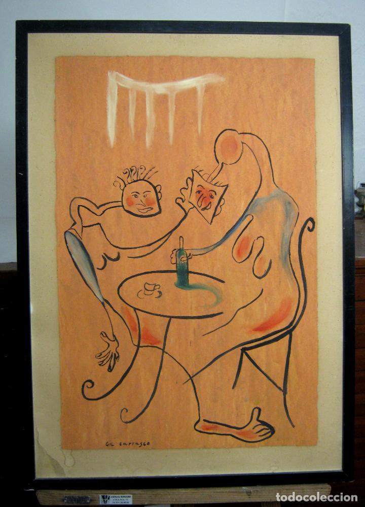 Arte: pintura surrealista - firmada - Foto 2 - 150683842