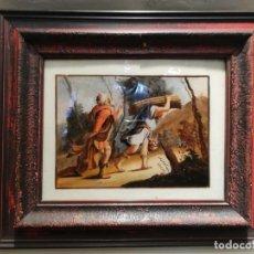 Arte: OLEO SOBRE CRISTAL SIGLO XVIII. Lote 150697786