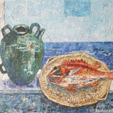 Arte: JOSEP MARÍA VAYREDA CANADELL(1932-2001).COMPOSICIÓN CON PESCADO.OLEO/TELAFIRMADO.TITULADO.CATALOGADO. Lote 150765605
