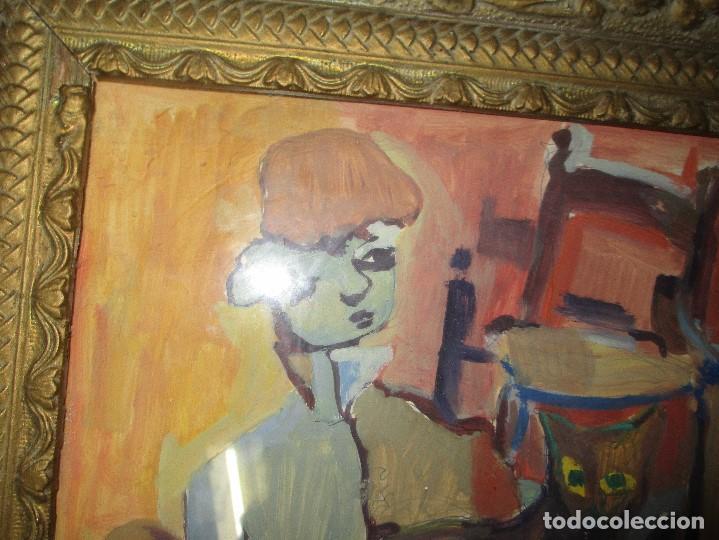 Arte: antigua pintura oleo pintado EN CARTON ADQUIRDO EN MALAGA ATRIBUIDO A S. TORRES NARVAEZ CIRCA 1965 - Foto 10 - 150852862