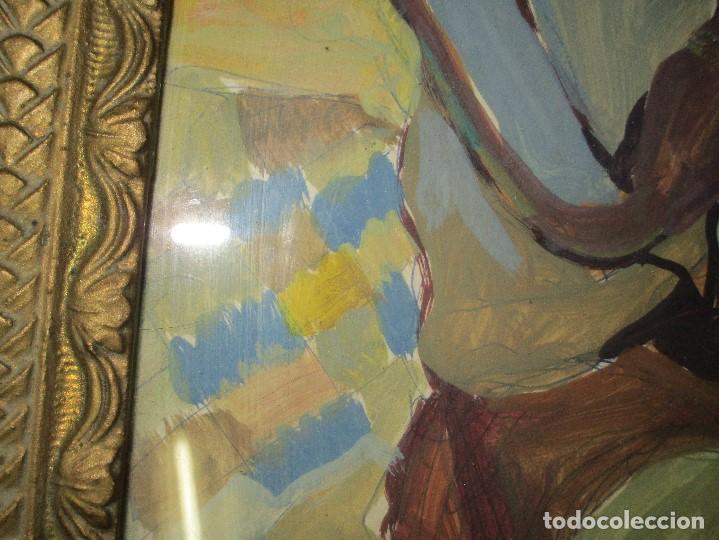 Arte: antigua pintura oleo pintado EN CARTON ADQUIRDO EN MALAGA ATRIBUIDO A S. TORRES NARVAEZ CIRCA 1965 - Foto 8 - 150852862