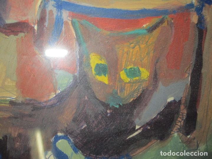 Arte: antigua pintura oleo pintado EN CARTON ADQUIRDO EN MALAGA ATRIBUIDO A S. TORRES NARVAEZ CIRCA 1965 - Foto 7 - 150852862