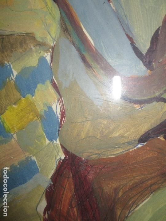 Arte: antigua pintura oleo pintado EN CARTON ADQUIRDO EN MALAGA ATRIBUIDO A S. TORRES NARVAEZ CIRCA 1965 - Foto 19 - 150852862