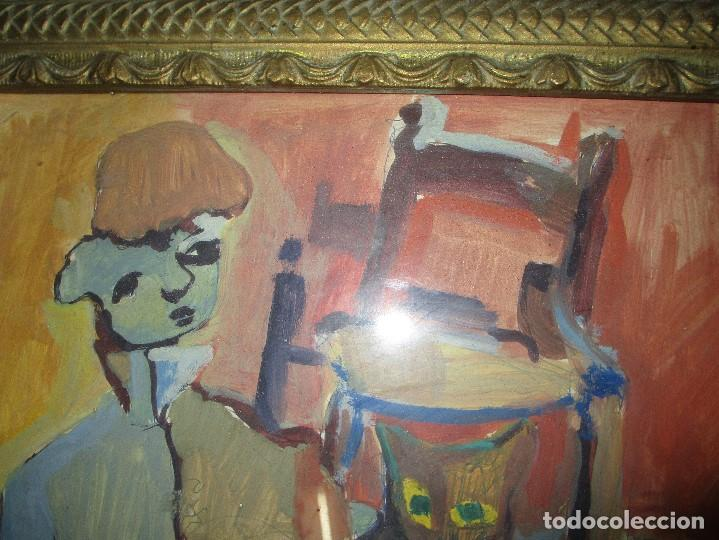 Arte: antigua pintura oleo pintado EN CARTON ADQUIRDO EN MALAGA ATRIBUIDO A S. TORRES NARVAEZ CIRCA 1965 - Foto 6 - 150852862
