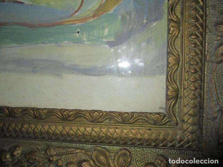 Arte: antigua pintura oleo pintado EN CARTON ADQUIRDO EN MALAGA ATRIBUIDO A S. TORRES NARVAEZ CIRCA 1965 - Foto 17 - 150852862