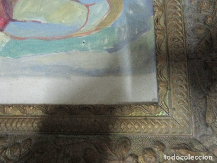 Arte: antigua pintura oleo pintado EN CARTON ADQUIRDO EN MALAGA ATRIBUIDO A S. TORRES NARVAEZ CIRCA 1965 - Foto 15 - 150852862