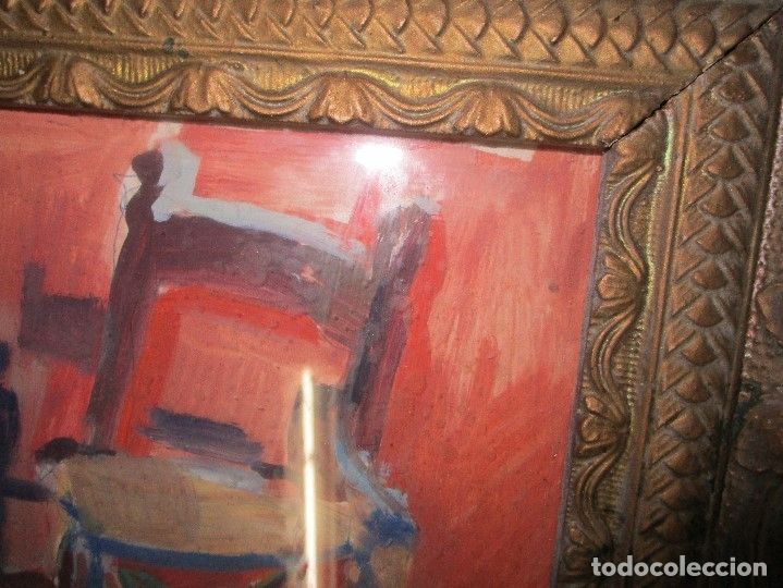 Arte: antigua pintura oleo pintado EN CARTON ADQUIRDO EN MALAGA ATRIBUIDO A S. TORRES NARVAEZ CIRCA 1965 - Foto 3 - 150852862