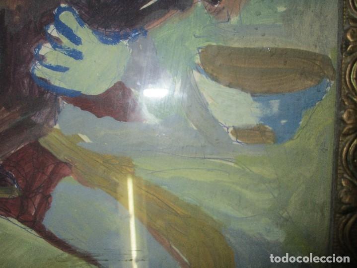 Arte: antigua pintura oleo pintado EN CARTON ADQUIRDO EN MALAGA ATRIBUIDO A S. TORRES NARVAEZ CIRCA 1965 - Foto 18 - 150852862