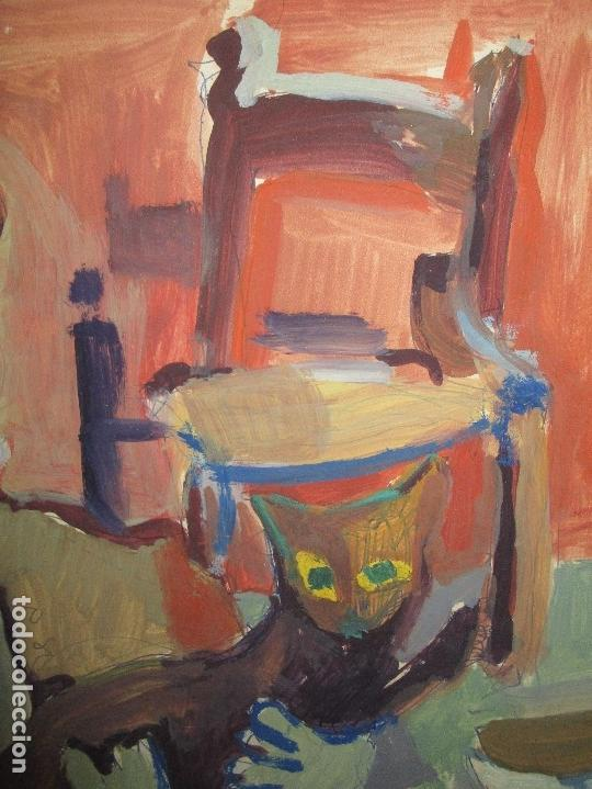 Arte: antigua pintura oleo pintado EN CARTON ADQUIRDO EN MALAGA ATRIBUIDO A S. TORRES NARVAEZ CIRCA 1965 - Foto 11 - 150852862