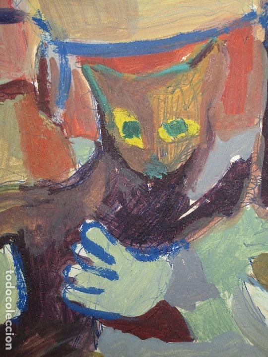 Arte: antigua pintura oleo pintado EN CARTON ADQUIRDO EN MALAGA ATRIBUIDO A S. TORRES NARVAEZ CIRCA 1965 - Foto 13 - 150852862