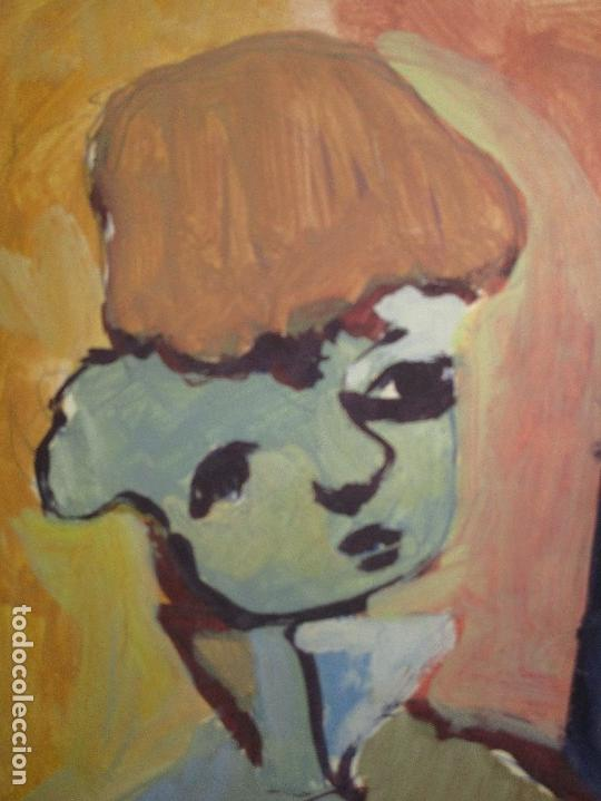 Arte: antigua pintura oleo pintado EN CARTON ADQUIRDO EN MALAGA ATRIBUIDO A S. TORRES NARVAEZ CIRCA 1965 - Foto 14 - 150852862