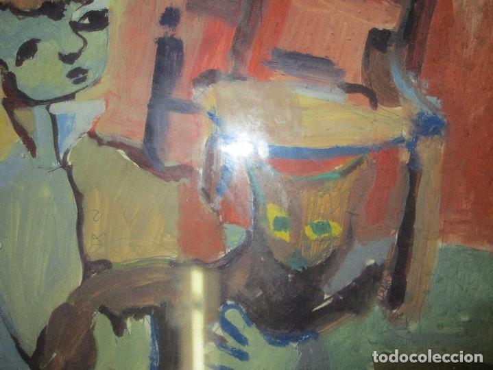Arte: antigua pintura oleo pintado EN CARTON ADQUIRDO EN MALAGA ATRIBUIDO A S. TORRES NARVAEZ CIRCA 1965 - Foto 2 - 150852862