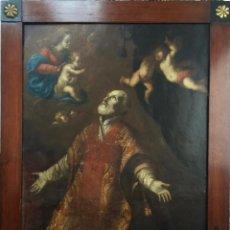 Arte: SAN FELIPE NERI EN ÉXTASIS ÓLEO SOBRE COBRE DE VICENTE BERDUSAN OSORIO , ARAGÓN 1659 . S XVII. Lote 150937550