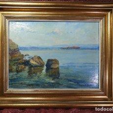 Arte: CUADRO OLEO PINTADO POR ISIDRE ODENA DAURA (TERRASSA, 1910 - 2008) -REF-1AC. Lote 150980458