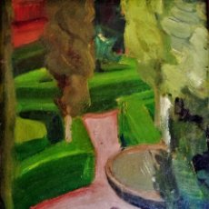Arte: JOSEP BARRENECHEA TUBILLA. OLEO SOBRE TABLA. Lote 151021530