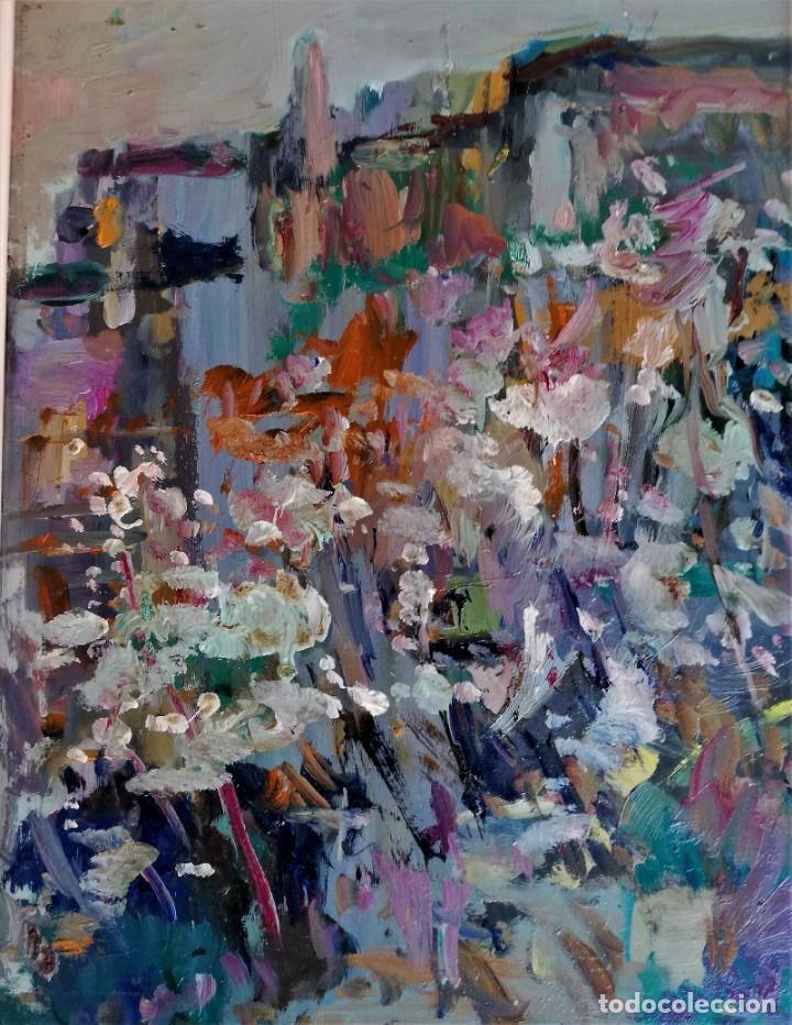 FRANCESC OLIVER FRADERA. OLEO SOBRE TABLA (Arte - Pintura - Pintura al Óleo Contemporánea )