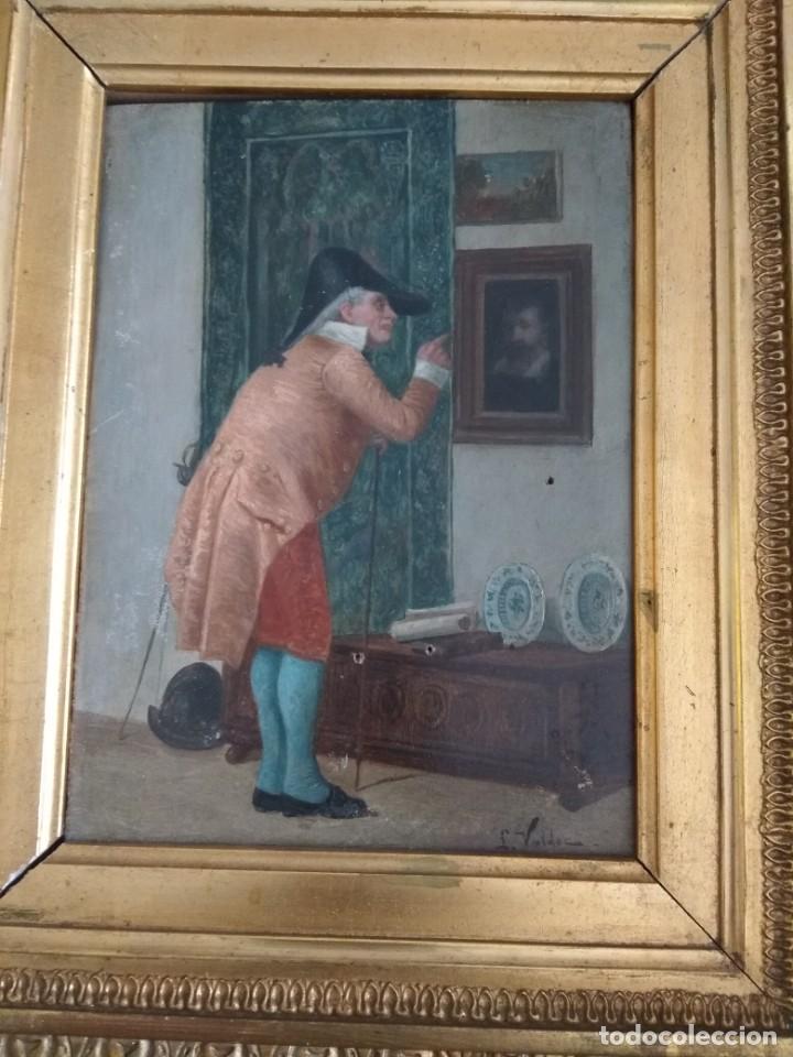 Arte: Bonita obra sobre tabla antigua - Foto 2 - 151029066