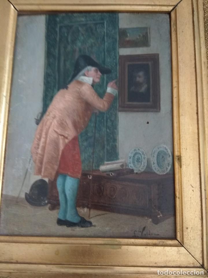 Arte: Bonita obra sobre tabla antigua - Foto 3 - 151029066