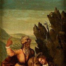 Arte: ÓLEO S/TABLA, SIGLO XVIII -ESCUELA ITALIANA-. DIMENSIONES.- 61.5X43 CMS, CON MARCO.. Lote 151029638