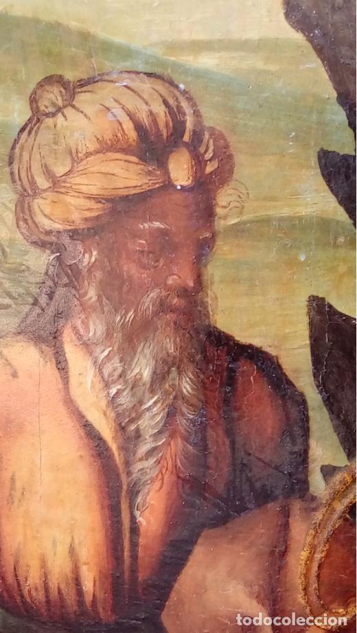 Arte: ÓLEO S/TABLA, SIGLO XVIII -ESCUELA ITALIANA-. DIMENSIONES.- 61.5X43 CMS, CON MARCO. - Foto 3 - 151029638