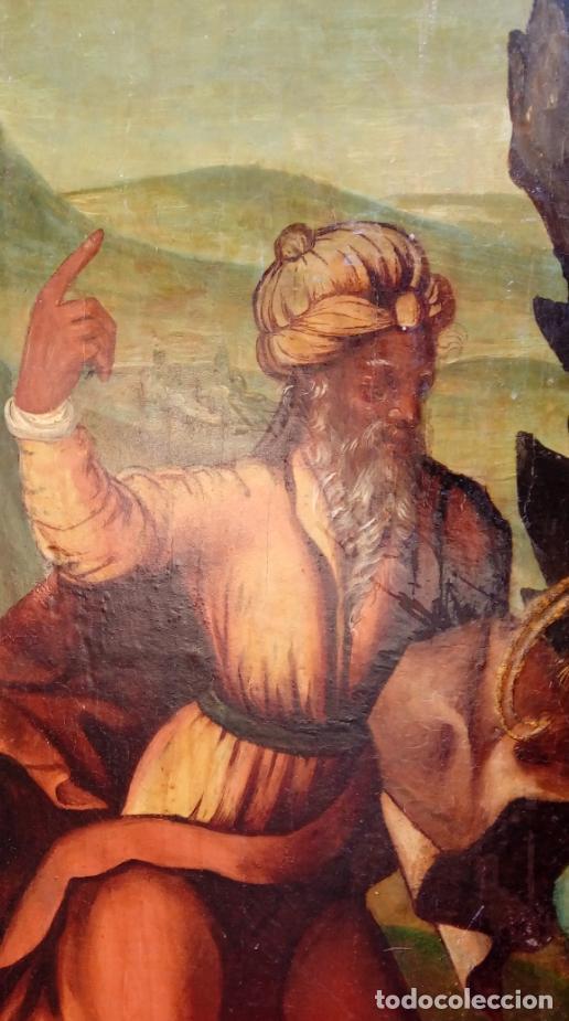 Arte: ÓLEO S/TABLA, SIGLO XVIII -ESCUELA ITALIANA-. DIMENSIONES.- 61.5X43 CMS, CON MARCO. - Foto 4 - 151029638