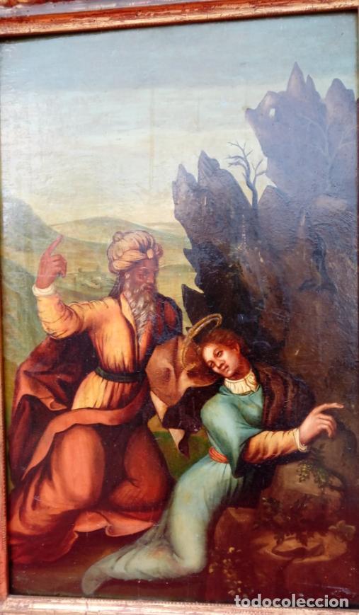 Arte: ÓLEO S/TABLA, SIGLO XVIII -ESCUELA ITALIANA-. DIMENSIONES.- 61.5X43 CMS, CON MARCO. - Foto 5 - 151029638