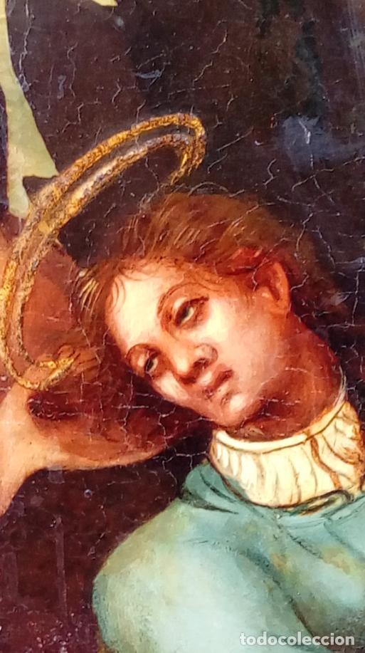 Arte: ÓLEO S/TABLA, SIGLO XVIII -ESCUELA ITALIANA-. DIMENSIONES.- 61.5X43 CMS, CON MARCO. - Foto 6 - 151029638