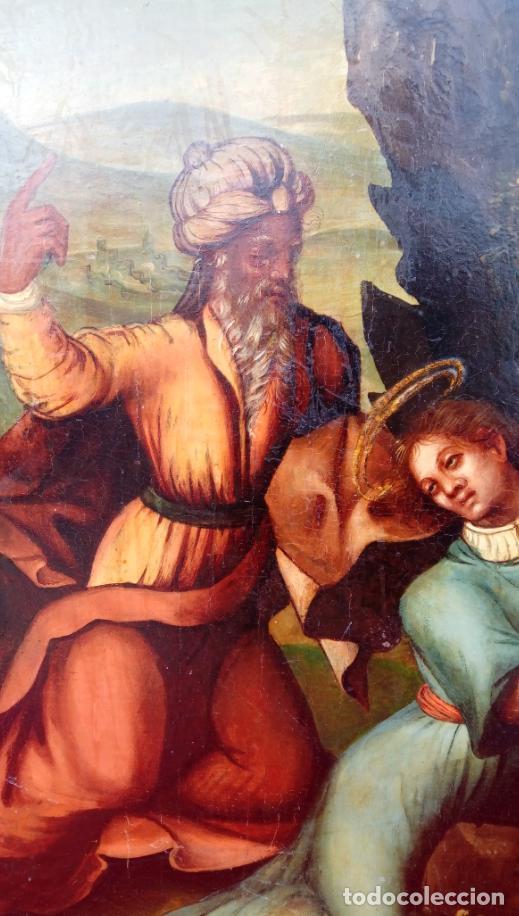 Arte: ÓLEO S/TABLA, SIGLO XVIII -ESCUELA ITALIANA-. DIMENSIONES.- 61.5X43 CMS, CON MARCO. - Foto 7 - 151029638