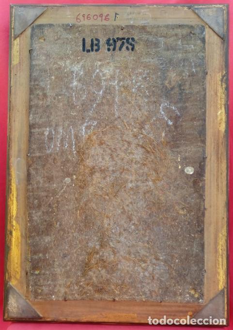 Arte: ÓLEO S/TABLA, SIGLO XVIII -ESCUELA ITALIANA-. DIMENSIONES.- 61.5X43 CMS, CON MARCO. - Foto 8 - 151029638
