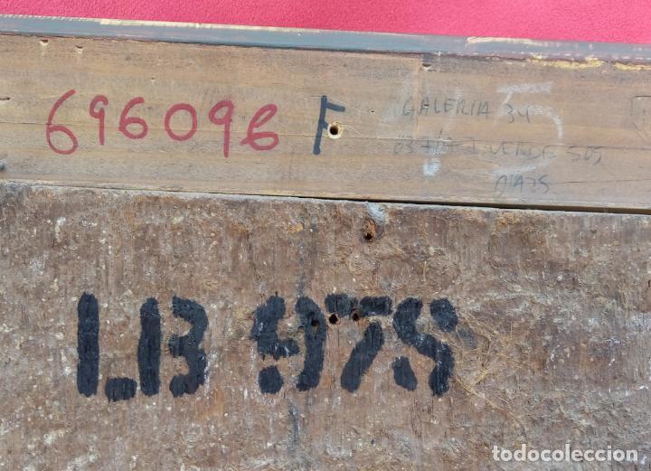 Arte: ÓLEO S/TABLA, SIGLO XVIII -ESCUELA ITALIANA-. DIMENSIONES.- 61.5X43 CMS, CON MARCO. - Foto 9 - 151029638
