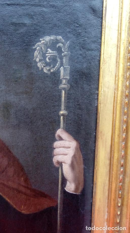 Arte: ÓLEO S/LIENZO -SAN ISIDORO DE SEVILLA-. ESC BARROCA SEVILLA SEGUNDA MITAD S. XVII. DIM.- 77X62 CMS. - Foto 4 - 151031786