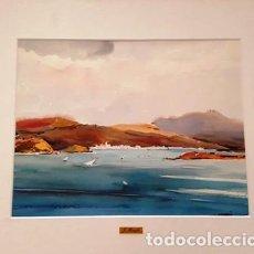 Arte: CUADRO ACUARELA - EL PORT DE LA SELVA - JOSEP MARFA GUARRO - BARCELONA -. Lote 151043162