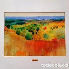 Arte: CUADRO ACUARELA - AMPURDA - JOSEP MARFA GUARRO - BARCELONA -. Lote 151043274