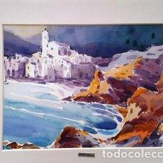 Arte: CUADRO ACUARELA - CADAQUES - JOSEP MARFA GUARRO - BARCELONA -. Lote 151043362