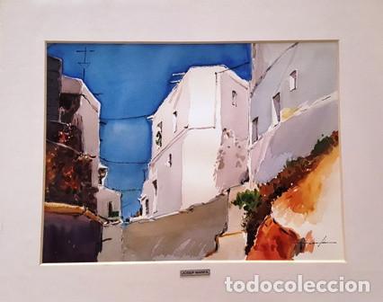 CUADRO ACUARELA - MOJACAR - JOSEP MARFA GUARRO - BARCELONA - (Arte - Pintura Directa del Autor)