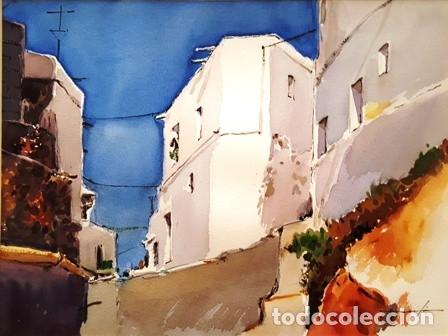 Arte: CUADRO ACUARELA - MOJACAR - JOSEP MARFA GUARRO - BARCELONA - - Foto 2 - 151043386
