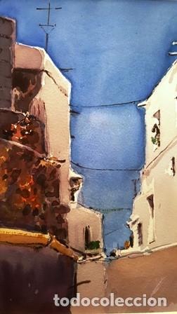 Arte: CUADRO ACUARELA - MOJACAR - JOSEP MARFA GUARRO - BARCELONA - - Foto 3 - 151043386