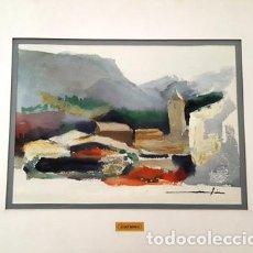 Arte: CUADRO ACUARELA - ANDORRA - JOSEP MARFA GUARRO - BARCELONA -. Lote 151043554