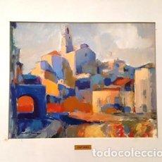 Arte: CUADRO ACUARELA - CADAQUES - JOSEP MARFA GUARRO - BARCELONA -. Lote 151043866